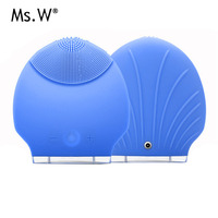 Electric 3D Silicone Ultrasonic Beauty Instrument Cleansing Pore Cleaner Brush Massager Facial Vibration Skin Care Spa