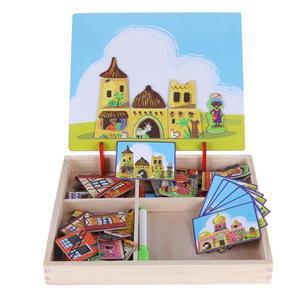 Image 4 - Houten Magnetische Puzzels Speelgoed Kids Educatief Pretend Play Leren Houten Speelgoed Houten Puzzels Voor Kinderen Houten Puzzels Game Gift