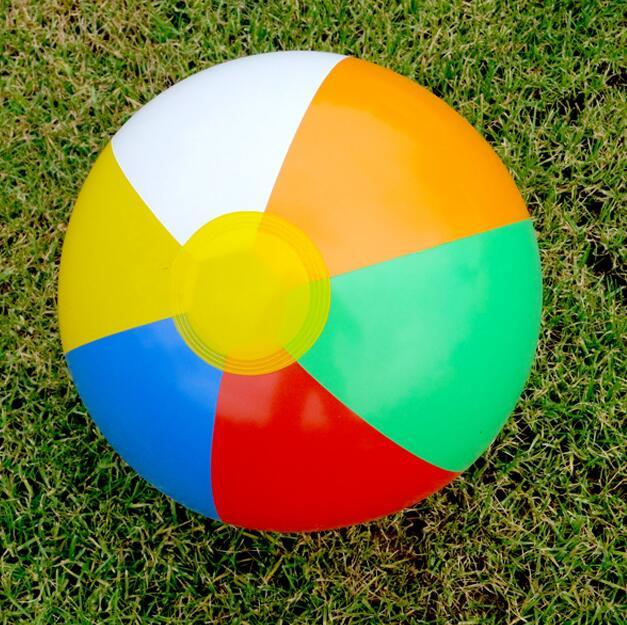 Rubber inflated Beach Ball Football Toy Baby Kid Children Balloons Random Color Swimming Pool Outdoor Play Water DS19Outdoor Fun & Sports