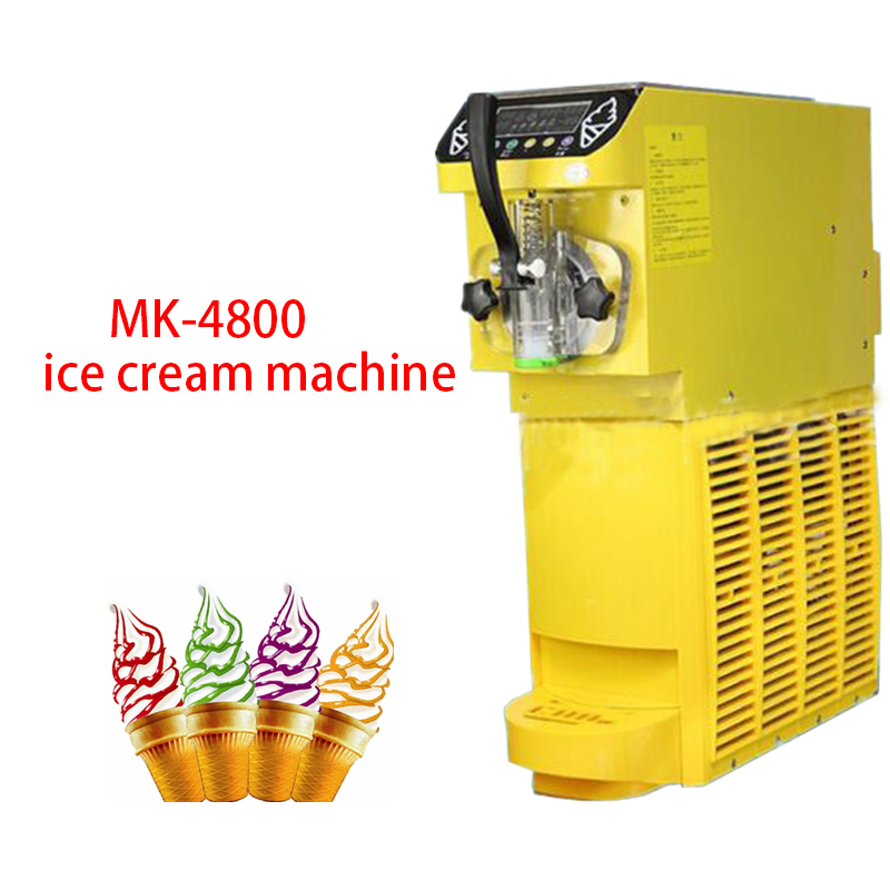 Soft Ice Cream Machine Commercial Ice Cream Maker Soft Serve Ice Cream Machine  500W  MK-4800