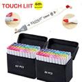 Touchliit алкоголя двойной искусство маркеры аниме Архитектура 30 40 60 80 цветов пейзаж Дизайн интерьера Pro маркер Графический ручки для рисования