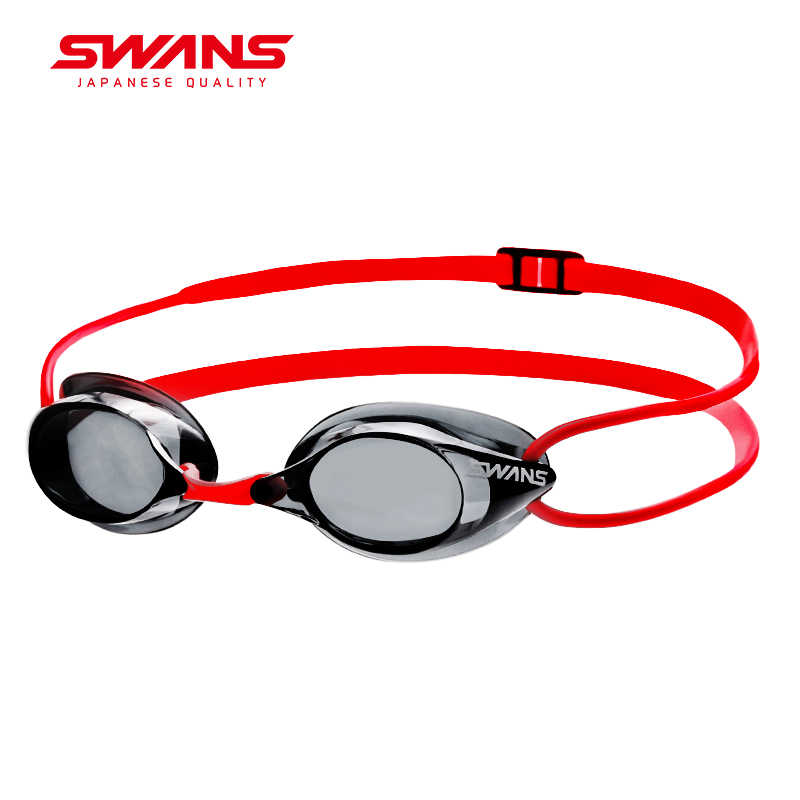 SWANS Made In Japan Professional Swimming Glasses Anti-Fog UV Protection Adjustable Silicone Without Apron Goggles SR-1N