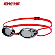 Лебеди сделаны в Японии профессиональные очки для плавания Анти-туман УФ Защита Регулируемый силиконовый без фартука очки SR-1N