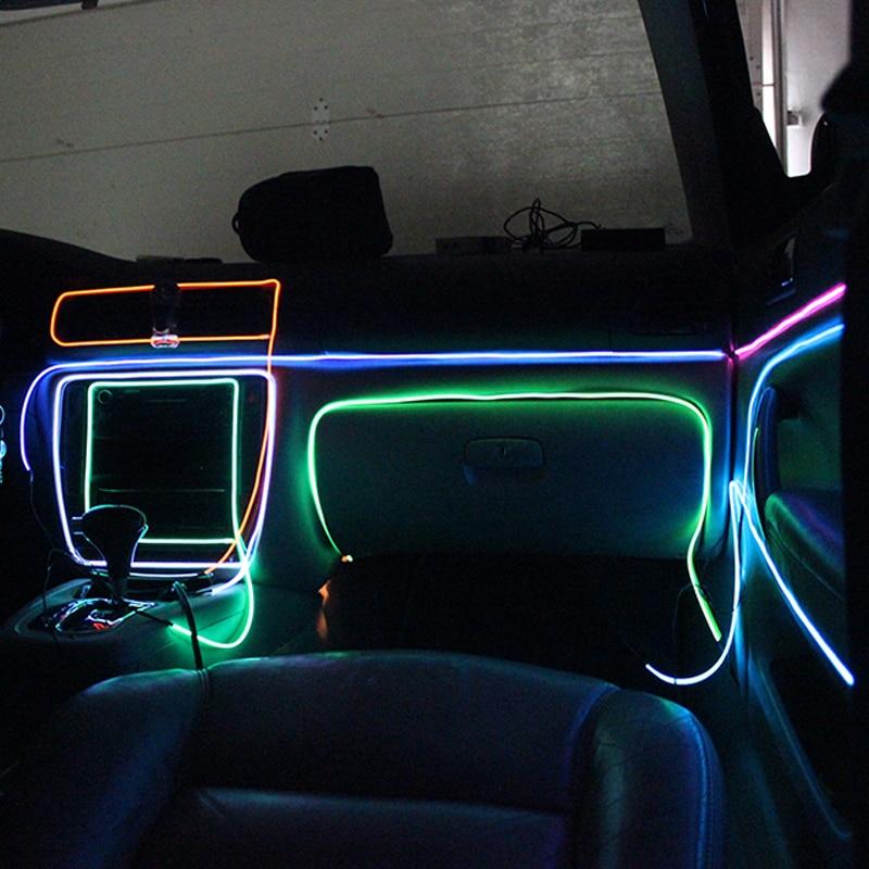 KRADA EL Draht usb el licht band Kalte lichter Auto Dekorative ...