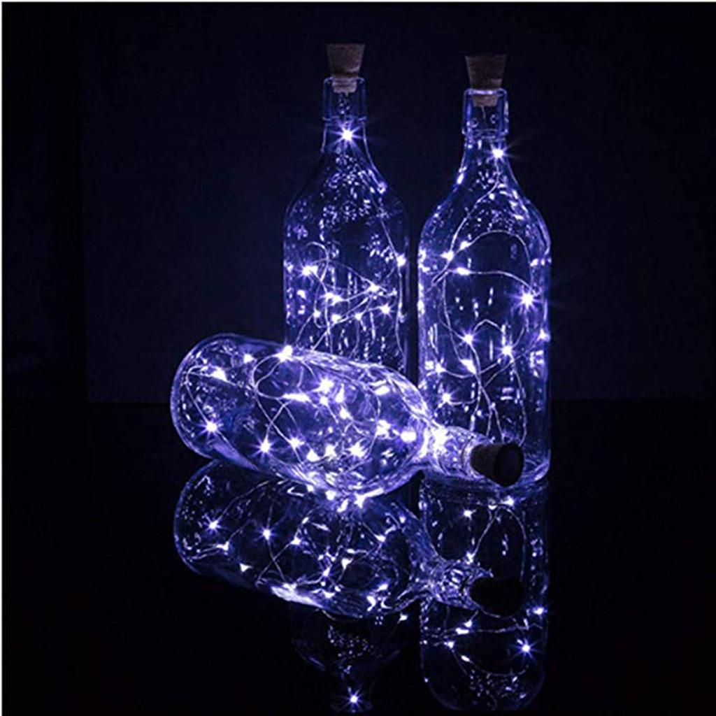 10Pcs Cork Shaped Lights LED Downlights Night Light Starry Light Wine Bottle Lamp For Party Decor LED light