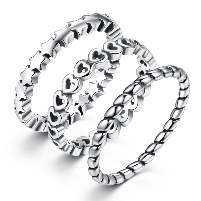 12 Styles Original My Princess Ring for Women Authentic Silver