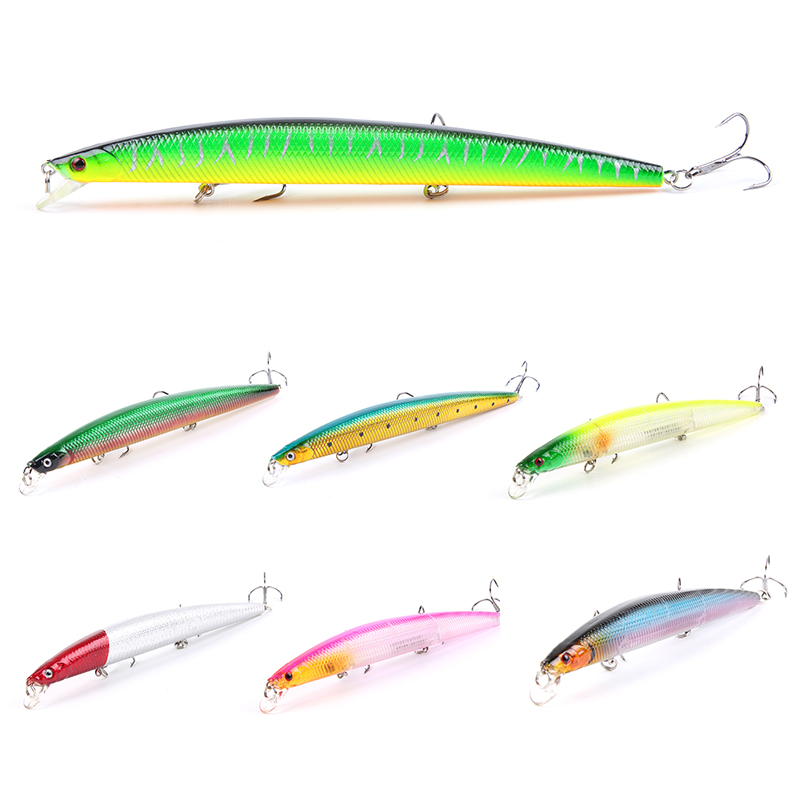1Pcs Minnow Crankbait Hard Bait 18cm 26g big Wobbles iscas artificiais para pesca Slow Sinking Jerkbait Fishing Lure YE-341 1pcs 12cm 11 5g fishing lure bass bait minnow lures 6 hook iscas artificiais para pesca crankbait fishing tackle zb34