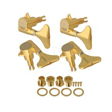 Yibuy золото герметичный Электрический Бас Тюнеры Колки головок 2R2L