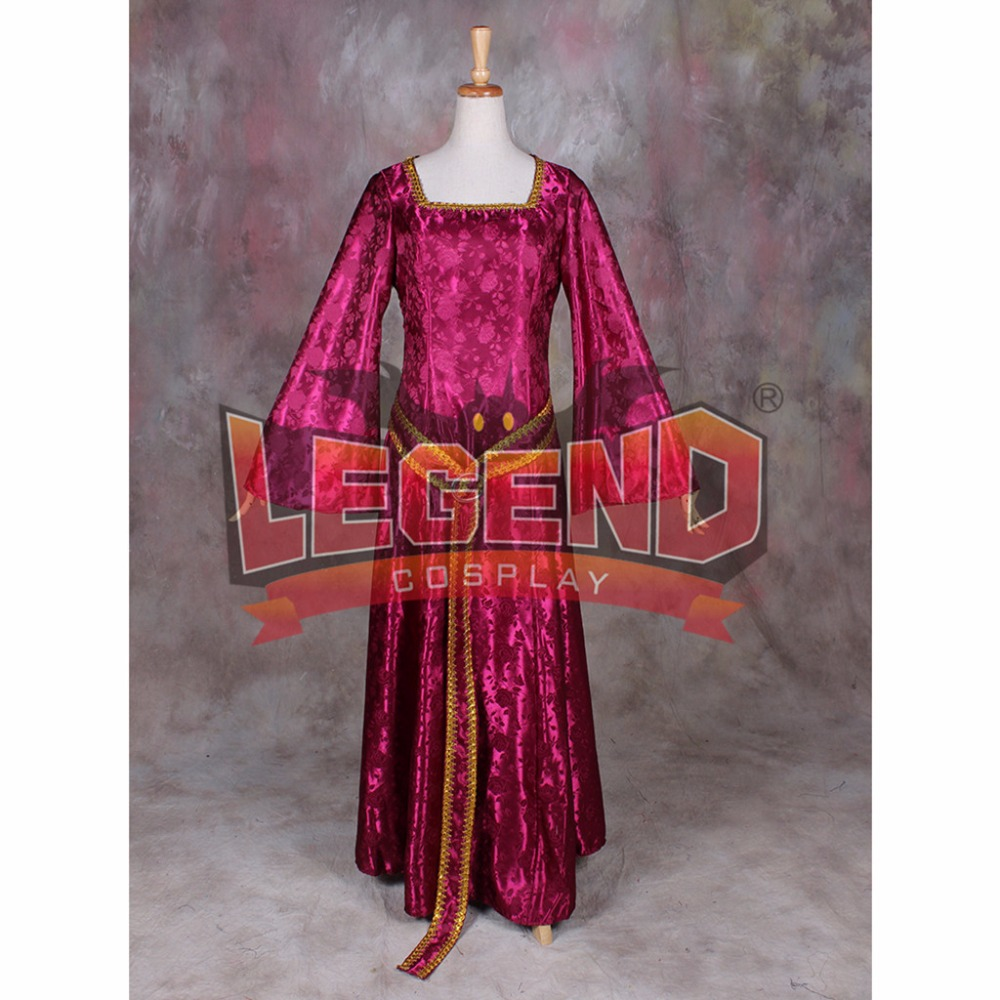 Tangled Mother Gothel Costume Withch Gothel Dress costume red dress