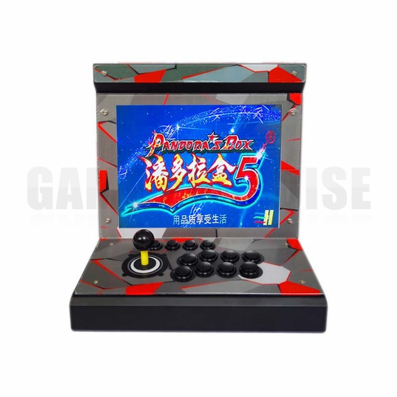 2 pcs metal Case Family  1 player Mini Arcade Game Machine with 15 inch LCD  960/1388 in 1 games board HDMI output 1