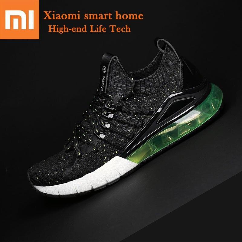 Original Xiaomi Mijia Air coussin sneaker haute qualité en cuir haute stretch chaussures de basket-ball en cours d'exécution multi-couleur couture hommes