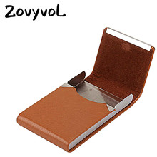 ZOVYVOL 2019 RFID ID Credit Card Holder Creative Metal Wallet Leather Business Women Men Slim Name Case&