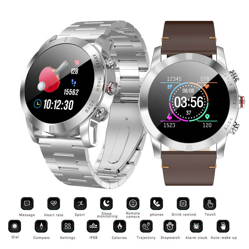 2019 Smart Watch IP68 Waterproof Bluetooth 4.2 Smartwatch Heart Rate Monitoring Compass Sport Watches women men for Android iOS(China)