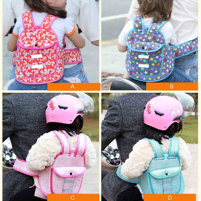 Hot Selling Children Safety Belt Back Strap Motorcycle Seat Harness Adjustable Breathable For Outdoor