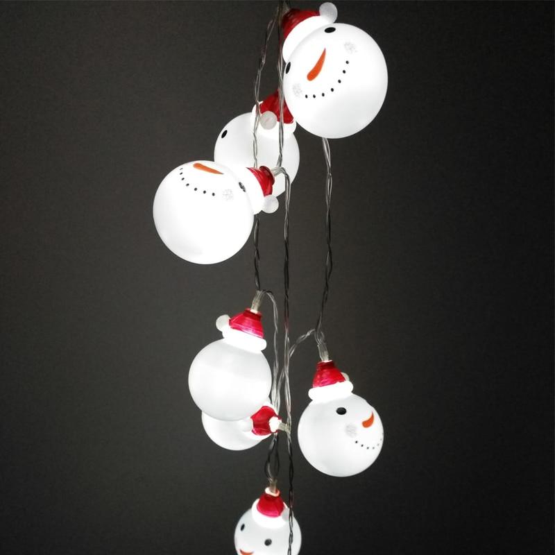 20LED Festivali hediye Kardan Adam Noel Ağacı Dekorasyon kolye - Şenlikli Aydınlatma - Fotoğraf 3