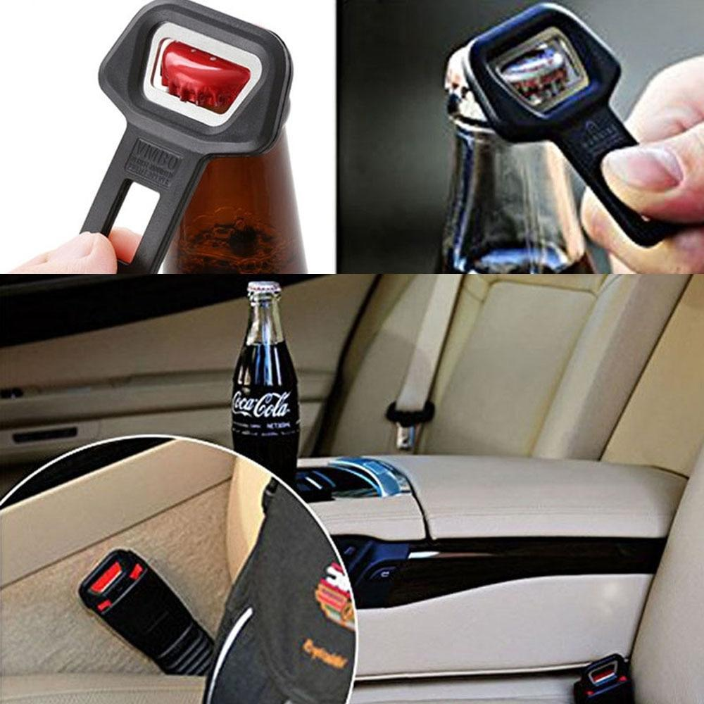 Universal Car Safety Seat Belt Buckle Clip Car Safety Belt Clip Car Seat Belt Buckle Vehicle Mount Bottle Opener Auto Styling