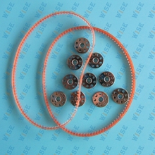 10 BOBBINS + 2 BELTS FOR SINGER FEATHERWEIGHT SEWING MACHINE 221 222 301 #45785 10 PCS+194144 2 PCS