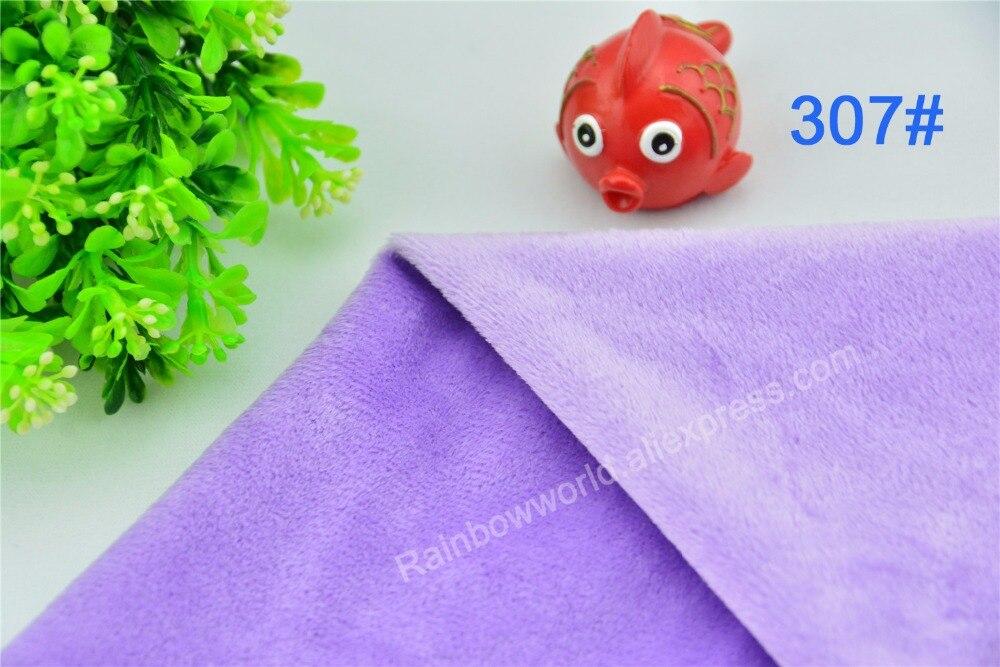 307 # светло-фиолетовый супер мягкий бархат ткань из микрофибры руно velboa волос высота 2-3 мм для DIY Пэчворк игрушки, подушки (1 м)