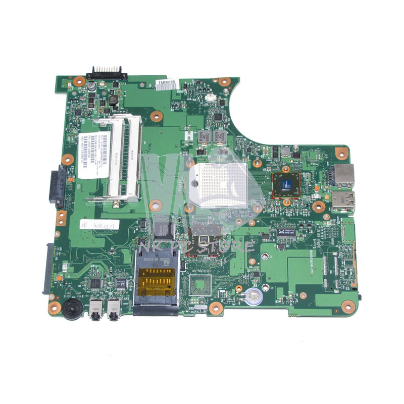 V000148050 Main Board For Toshiba Satellite L355 L355D Laptop Motherboard Socket S1 DDR2 with Free CPU