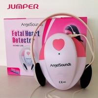 Angelsounds Fetal Doppler Pocket Ultrasound Baby Heart Monitor + Earphone + Line in USB cable+ gel + battery+2CD +Christmas Card