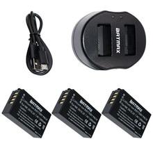 Batteries rechargeables haute capacité, 3 pièces, EN-EL20 EN EL20, avec double chargeur USB, pour appareil photo numérique NIKON 1 J1 J2 J3 S1