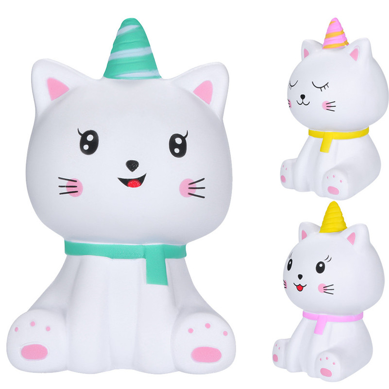Adorable Squishies Kawaii Cartoon Kitty Spuer Slow Rising Cream Scented Stress Relief  Squirrel Swipes Anti-stress For Kid D4