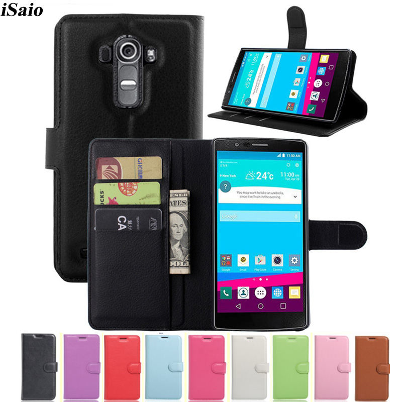 For LG G4 H815 H818 H810 Wallet Case Flip Leather Cover For LG G4 Phone Case TPU Shell Stand with Card Holder Funda Capa Coque