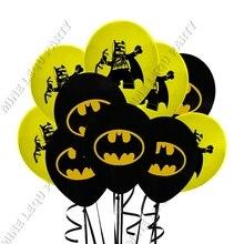 Латексные шары «мстители», «Герой», «Бэтмен», тематическая вечеринка на день рождения, набор воздушных шаров, 12 дюймовые латексные воздушные шары, вечерние декоративные товары для дома 12