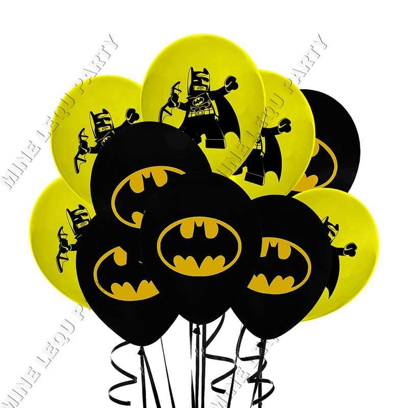アベンジャーズのヒーローバットマンラテックス風船のテーマ誕生日パーティーバルーンセット、 12 インチラテックスバルーンパーティーデコホームデコ用品 12