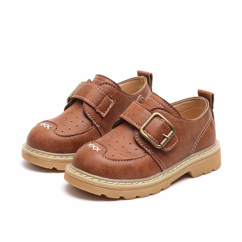 2018 New British Style Boys Casual Leather Shoes for Children Boys Leather Shoes for 1-6 Years Kids Leather Shoes