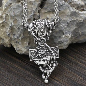 Viking Thor's Hammer Mjolnir Pendant Necklace  Viking Necklace