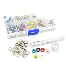 120 sets and tools package .Paint color eyelets. Eyelets rivets. Corn. Color buttonholes. 5mm multicolor corns buckle. Eyelets.