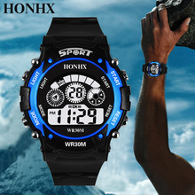 relogio masculino 2019 Watches Men Sports Watch Electronic LED Digital Display Clock Men Relogio Male reloj hombre Men #8217 s Watch cheap Digital Wristwatches 20mm Complete Calendar Week Display Water Resistant Chronograph Alarm luminous Leather Deployment Bucket