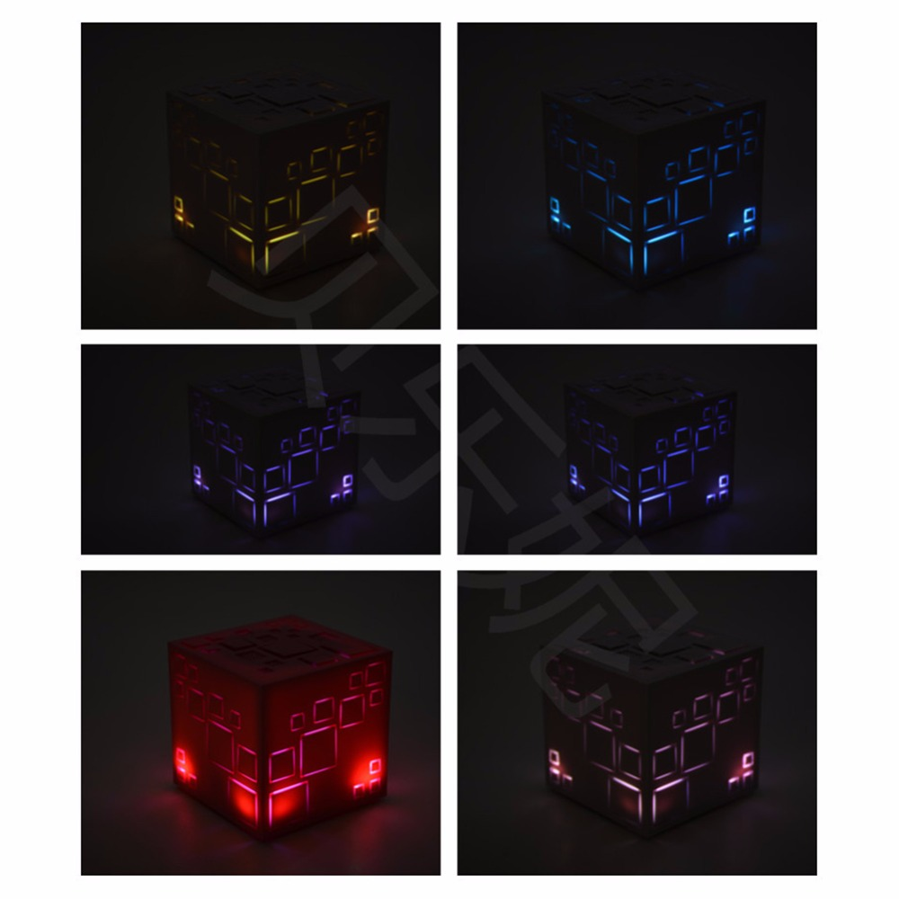 5bc7e51b2108 Square Creative Mini Wireless Bluetooth Speaker Sound Box Loudspeaker  Shining with LED Light Subwoofer Fashion Design Lighting - us465