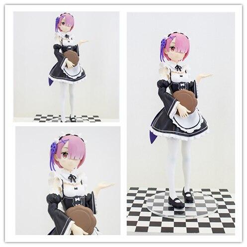 ФОТО [SGDOLL] Anime Re:Zero kara Hajimeru Isekai Seikatsu Ram Sega Prize 17cm/7inch Model Toy Collection PVC Figure New In Box 9026