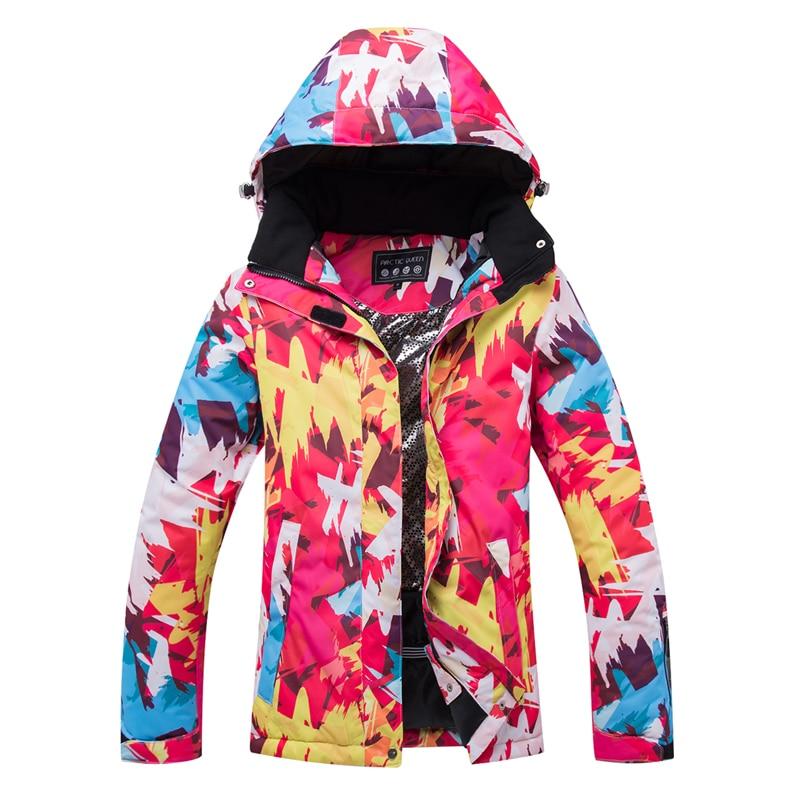 Veste de Ski femme ARCTIC QUEEN veste de snowboard femme vêtements de sport d'hiver veste de Ski de neige respirante imperméable coupe-vent - 6