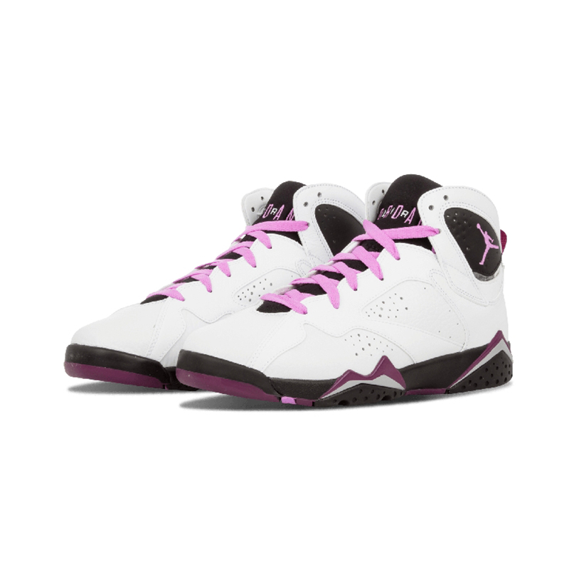 Original White Pink Nike Air Jordan 7 Retro GG7 AJ7 Womens Basketball Shoes Sport Outdoor Cotton Fabric DMX Women Sneakers Top