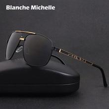 2020 Square Metal Frame Sunglasses Men polarized Driving UV400 Retro Sun Glasses For Male oculos masculino sunglass With Box
