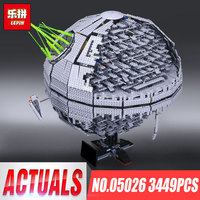 Лепин 05026 Звезда смерти второго поколения Building Block кирпичи игрушечные лошадки модель войны Совместимость legoINGlys 10143 05028 05035