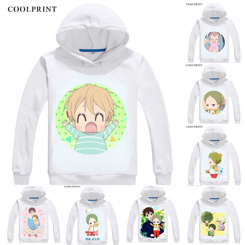 COOLPRINT School Babysitters Hoodies Hooded Hoodie Gakuen Babysitters Orphan Kotaro KASHIMA Ryuichi KASHIMA Cosplay Sweatshirts