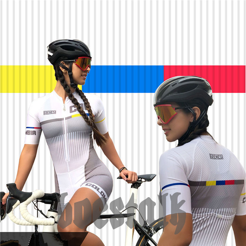 2019 PRO Racing frenesi women s Team body Skinsuit colombia Cycling Jersey bicycle Ciclismo speed Clothing