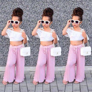 eb9f0863fee9a pudcoco Summer Clothes Set Crop Top Long Pant Infant Outfit