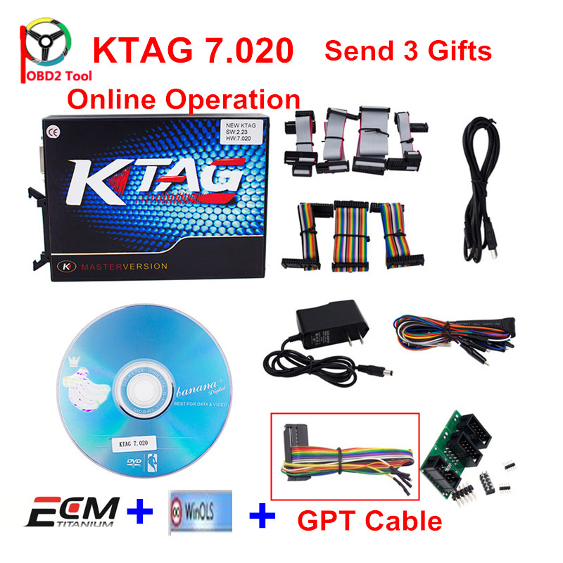 Online Ktag 7.020 V2.23 No Token Limite Kess 5.017 2.23 Master ECU Programmer K-Tag V7.020 Chip Tuning Programming Tool ECM GPT 2017 newest ktag v2 13 firmware v6 070 ecu multi languages programming tool ktag master version no tokens limited free shipping