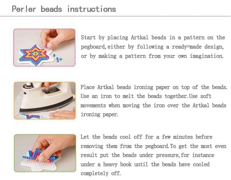 7 type selection 2.6mm perler PUPUKOU beads template for hama beads diy toy DIY educational puzzle beadbond 3
