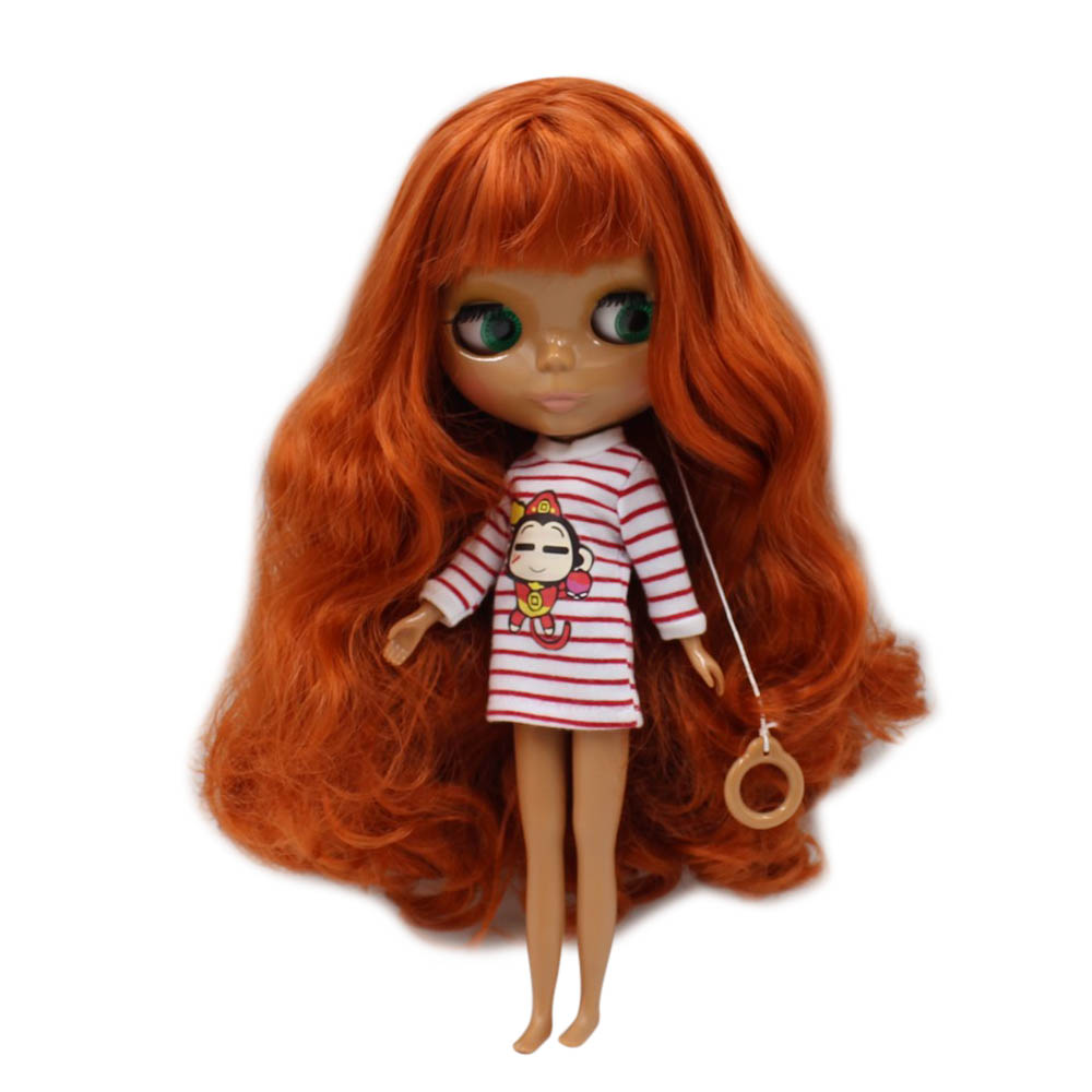 Nude Blyth Doll Mixed hair without bang black red-in Dolls