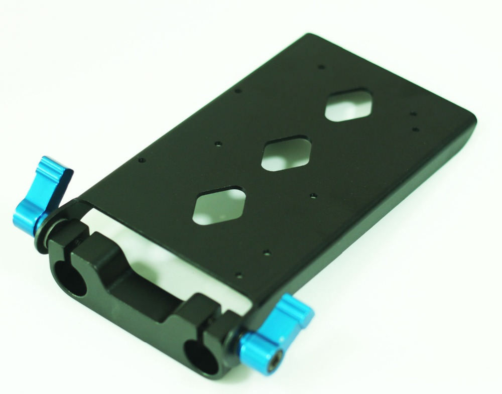 wondlan Battery Support Base Cheese Plate for 15mm Support Rail Rig Rail DSLR