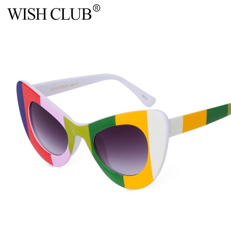 WISH CLUB Fashion Cat Eye Sunglasses Women Brand Designer ...
