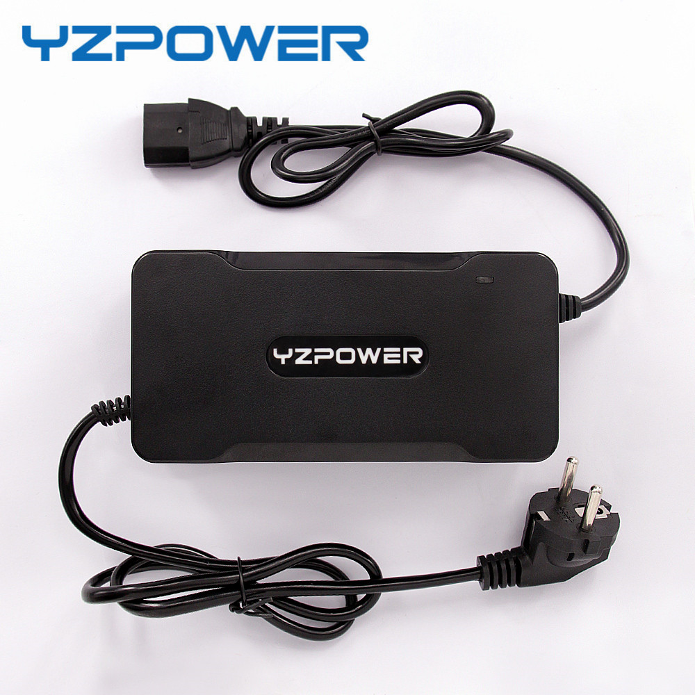 YZPOWER Rohs CE Smart 84V 2A Lithium Battery Charger for Electric Tool Robot Electric Car Li-on Battery 72V with Built-in Fan