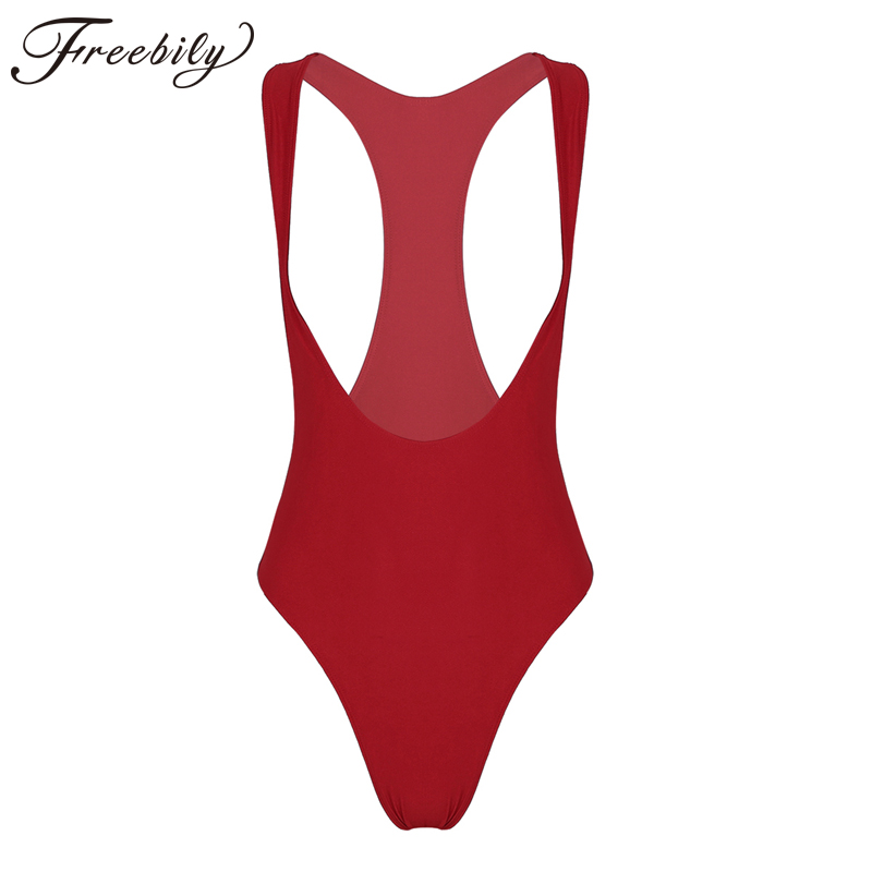 a51659de39 Detail Feedback Questions about Women One Piece Bodystocking Sleeveless  Open Chest High Cut Catsuit Solid Color Leotard Bodysuit Thong Swimsuit  Sexy ...