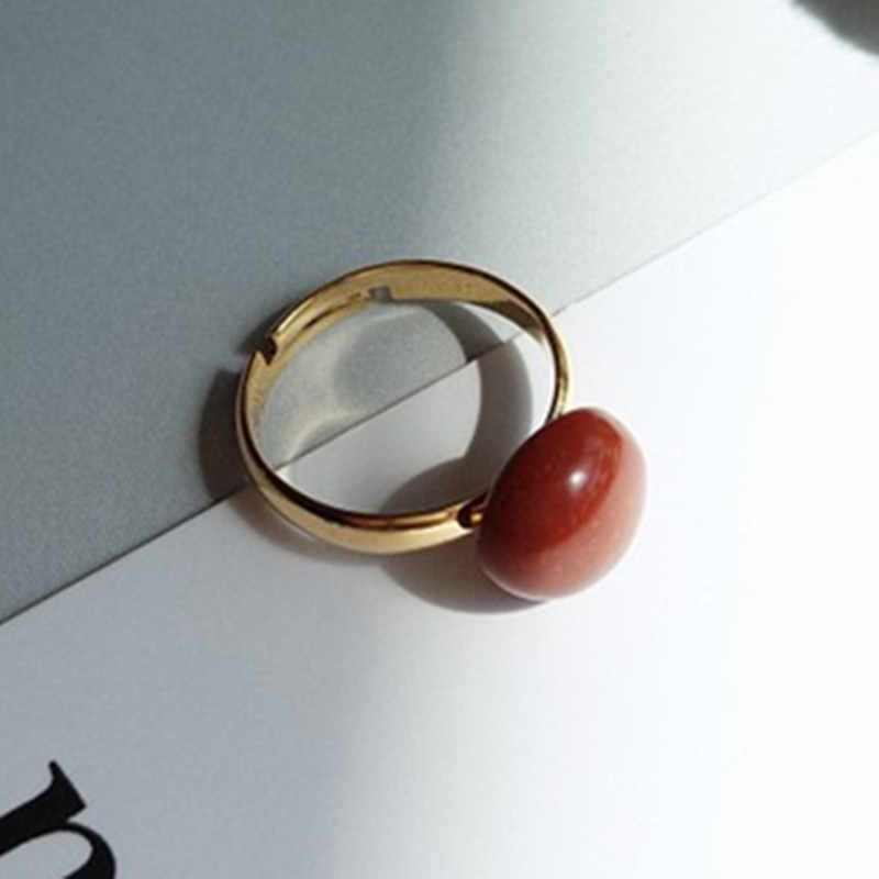 Cute Opening Adjustable Ring for Women Vintage Palace Red Stone Ring Romantic Wedding Love Gifts Jewelry Wholesale